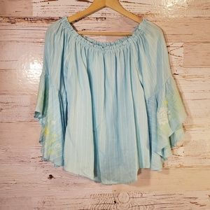 Miami off shoulder bell sleeve top